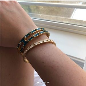 J.Crew blue enamel hinge bracelet